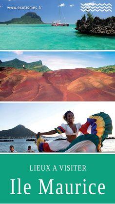 Découvrez les différents lieux à visiter à l'#île #Maurice : le jardin de Pamplemousse, #Flic-en-Flac, #Chamarel, l'île aux Cerfs, #Port Louis, #Grand Baie Une #destination authentique marquée par sa #culture #créole. Mauritius Travel, Lets Run Away, Destinations, Beautiful Places In The World, Running Away, Road Trip, Ocean, Authentique, Islands