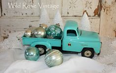 Wild Rose Vintage: Vintage Toy Trucks and Ice Skates