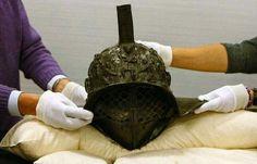 Casc de gladiador trobat a Pompeya