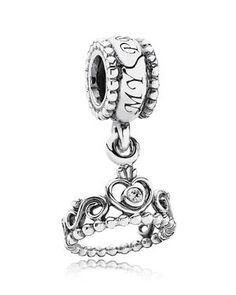 Pandora Dangle Charm - Sterling Silver & Cubic Zirconia My Princess, Moments Collection