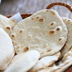 Vegan Yeast free wheat Flatbread and Pita bread - Vegan Richa Bread Recipes, Baking Recipes, Vegan Recipes, Pasta Recipes, Vegan Baking, Bread Baking, Yeast Free Breads, Yeast Bread, Bread Without Yeast