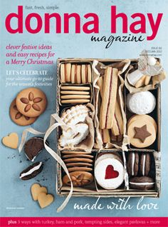 Donna Hay Magazine, Dec 2012 (recipe index) Christmas Cover, Christmas Makes, Simple Christmas, Xmas, Eat Your Books, Food Photography Tips, Concept Photography, Last Minute Christmas Gifts, Cookery Books