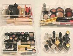Não basta ter maquiagens: elas precisam estar bem organizadas, para você ter noção de tudo o que tem e sempre encontrar o que procura.Também acho que ter