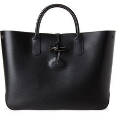 Longchamp Black Roseau Small Leather Tote (21 ff708c7093aae