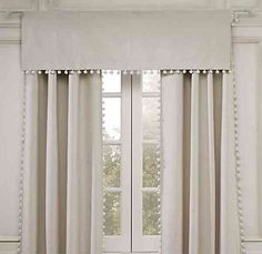 Neutral Bobble Curtains