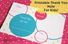 craft whatever: {Printable} Kids Thank You Notes