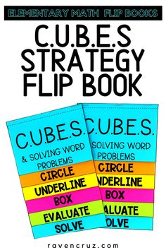 Are you using the CUBES math strategy in you class and you want a fun reference for your students? Use these CUBES math strategy flip books for reference in interactive notebooks. #mathwithraven Math Worksheets, Math Resources, Math Activities, Multiplication Strategies, Math Strategies, Math Notebooks, Interactive Notebooks, Cubes Math Strategy, Common Core Math Standards