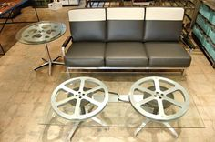 Film Reel Coffee & Side Tables