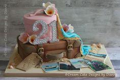 LEILA ~ THAILAND THEMED TRAVEL CAKE Travel Cake, 21st Cake, Beach Cakes, Dream Cake, Take The Cake, Unique Cakes, Specialty Cakes, Novelty Cakes, Centre Pieces