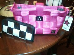 Razzleberry Carriage Hobo and Black and White Checkered Clutch Wallet, Valentines Day 2011