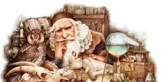 Wizardology - coloured pencil on paper - Yvonne Gilbert