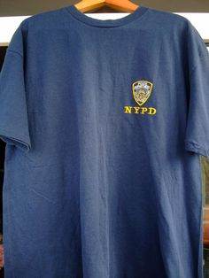NEW YORK Police Department NYPD Hanes shirt 100 size XL black #Hanes #BasicTee