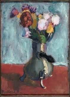 Bouquet of flowers in chocolate, 1902, Henri Matisse Size: 64x46 cm