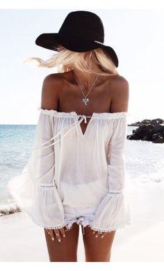 Desert Wanderer Top - White - White Fox Boutique