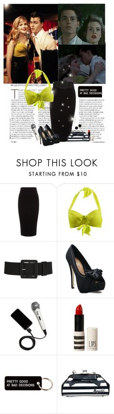 """""""Cry baby lime green top"""" by priscilla12 ❤ liked on Polyvore featuring Whistles, Seafolly, iRig, Topshop, Various Projects and Sourpuss"""