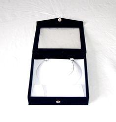 Schmuckschatulle Schmuckbox Schmuck Kästchen Für Halskette und Ohrring Blau