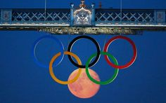 Picture of the Day: An Olympic Full Moon