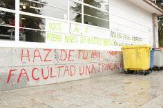 Facultad de Filosofía y Filología. Fachada oeste. Ciudad Universitaria. Campus Moncloa. Madrid. 2015