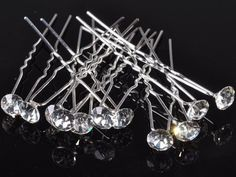 40pcs Wedding Bridal Hair Pin Fashion Clear Crystal Hairpin Clips For Women Jewelry Accessories Wholesale Lots Gift