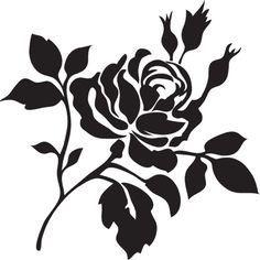Rose Flower Bush Stencil, Wall Stencil, Painting Stencil, Furniture Stencil by…