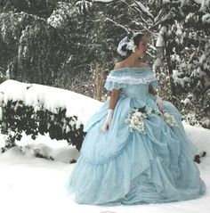 custom Civil War era, Victorian, 1860's, 19th century ball gown by BatisteAndFrenchLace. https://www.facebook.com/BatisteAndFrenchLace www.etsy.com/shop/BatisteandFrenchLace