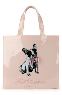 Ted Baker London Dog Print Ikon Faux Patent Shopper available at #Nordstrom