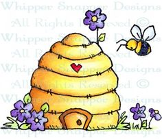 Honey I'm Home - Bugs - Rubber Stamps - Shop