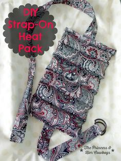 DIY Strap On Heat Pack l The Princess & Her Cowboys #heatpack #DIY