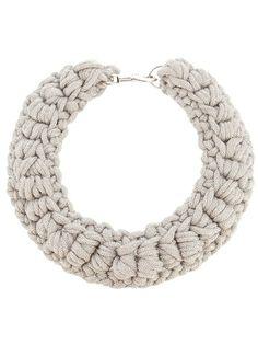 crochet collar - farfetch