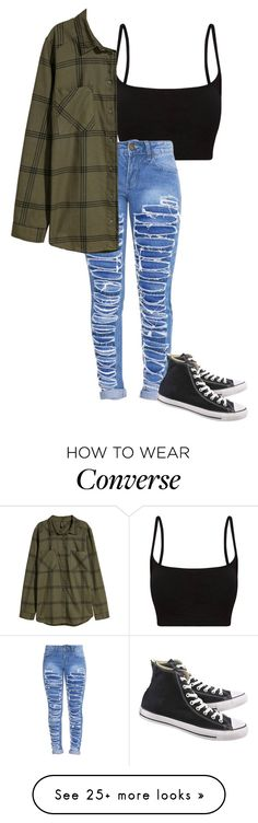 """Untitled #656"" by clairebears4150 on Polyvore featuring Converse"