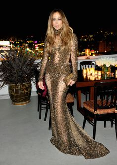 J.Lo strikes a pose at an American Music Awards after-party in Los Angeles on Nov. 24, 2013.