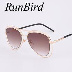 luxury sunglasses brands  XIU Luxury Vintage Metal Frame Sunglasses Women Brand New Designer ...