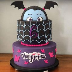 - Parties In Packages - The perfect Vampirina style cake to match your party them. Girl Birthday Themes, 6th Birthday Parties, Birthday Bash, Birthday Party Decorations, Birthday Ideas, Paris Birthday, Princess Birthday, Craft Party, Halloween Birthday