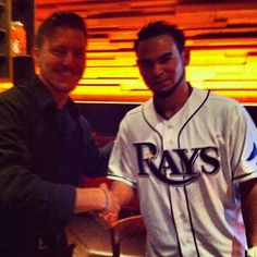 Hanging with Rays Pitcher Alex Torres.
