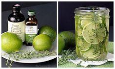 Aroma #3: limão, tomilho, hortelã e extrato de baunilha. Aroma bastante fresco.