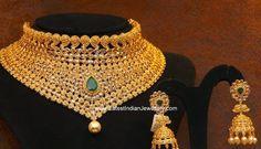 uncut diamond bridal choker necklace