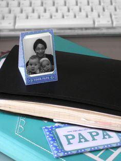 GRATIS download: mini-fotolijstje voor Vaderdag! Met bijpassende cadeau-envelopje. Ook erg leuk op een dienblad met een zondags-ontbijtje-op-bed...