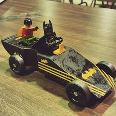 Lego Batman and Robin Pinewood Derby car. It was our first time building…