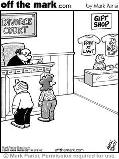 cartoons of divorce court Divorce Memes, Divorce Lawyers, Marriage Humor, Marriage Advice, Humor Legal, Law School Humor, Lawyer Humor, Divorce Court, Saving A Marriage