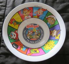 ***SOLD*** KELLOGG'S #Mascot Cereal BOWL #TonytTheTiger #ToucanSam Coco Cornelius Sunny Snap Crackle Pop #Kelloggs