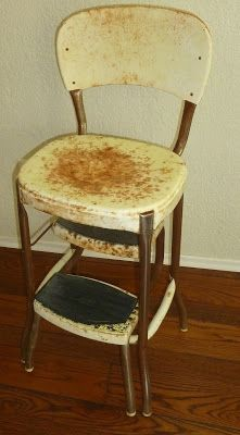 Observations Vintage Step Stool Chair This is what Mamaws old stool looked like until