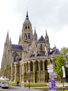 Bayeux Cathedral, Normandy France  They were having a First Communion when I went to Mass here on Sunday! So sweet!
