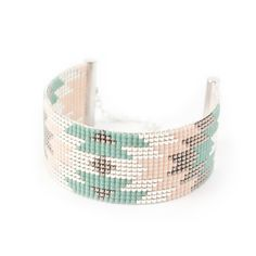 Bracelet 100% fait à la main en France !!  ► DESCRIPTION   Longueur du bracelet : entre 13 et 14 cm de tissage + 5 cm de chaînette d'extension grâce à laquelle le brace - 17809786