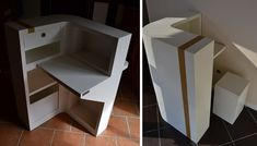 Petit comptoir sur-mesure en carton - SG Mobilier Carton Angers