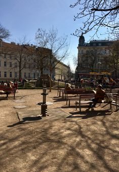 The sun is always best enjoyed outside. a little break in the park around the corner can certainly brighten up your day. Park Around, Street Furniture, The Outsiders, Public, Corner, Wood, Woodwind Instrument, Timber Wood, Wood Planks