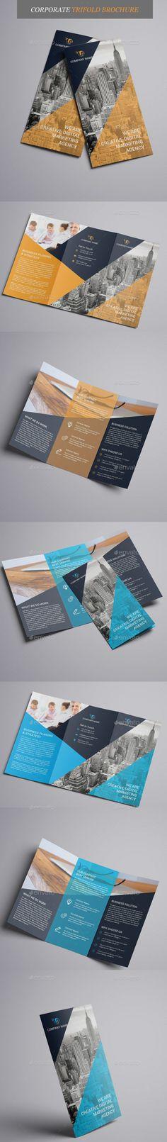 Corporate Trifold Brochure Template Vector EPS, AI Illustrator