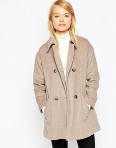 ASOS Jacket in Swing Shape with Double Breasted Detail