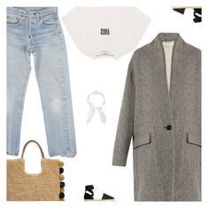 """Untitled #4920"" by amberelb ❤ liked on Polyvore featuring Levi's, Étoile Isabel Marant, Vetements, MANGO, John Lewis and Chloé"