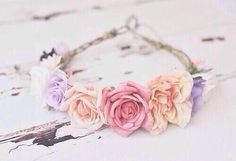 flower crown, buy fake flowers from the dollar store and some thick rope & a hot glue gun.
