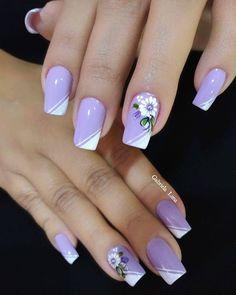 Painted Toe Nails, Xmas Nails, Cute Animal Photos, Purple Nails, Flower Nails, Diy And Crafts, Manicure, Nail Art, How To Make